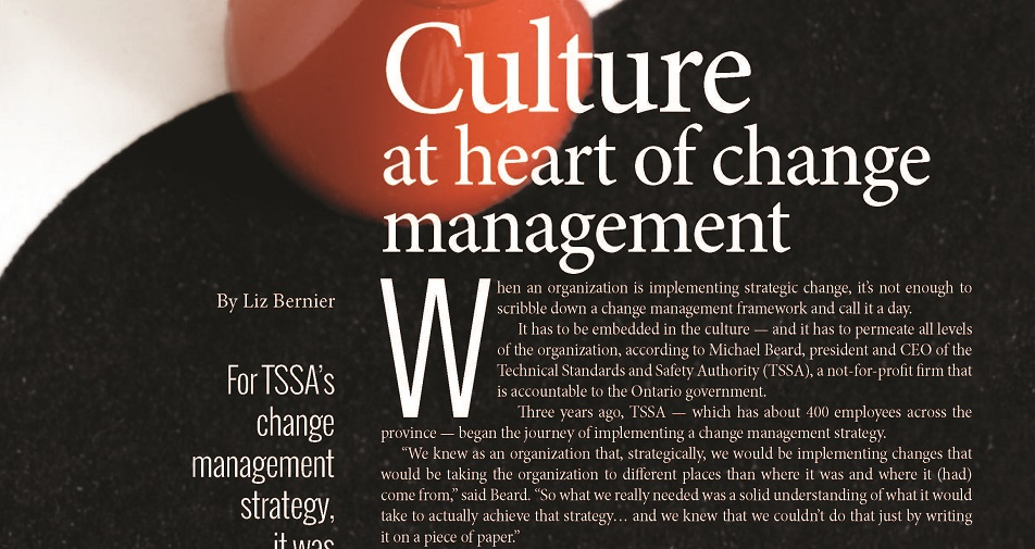 Culture At Heart Of Change Management