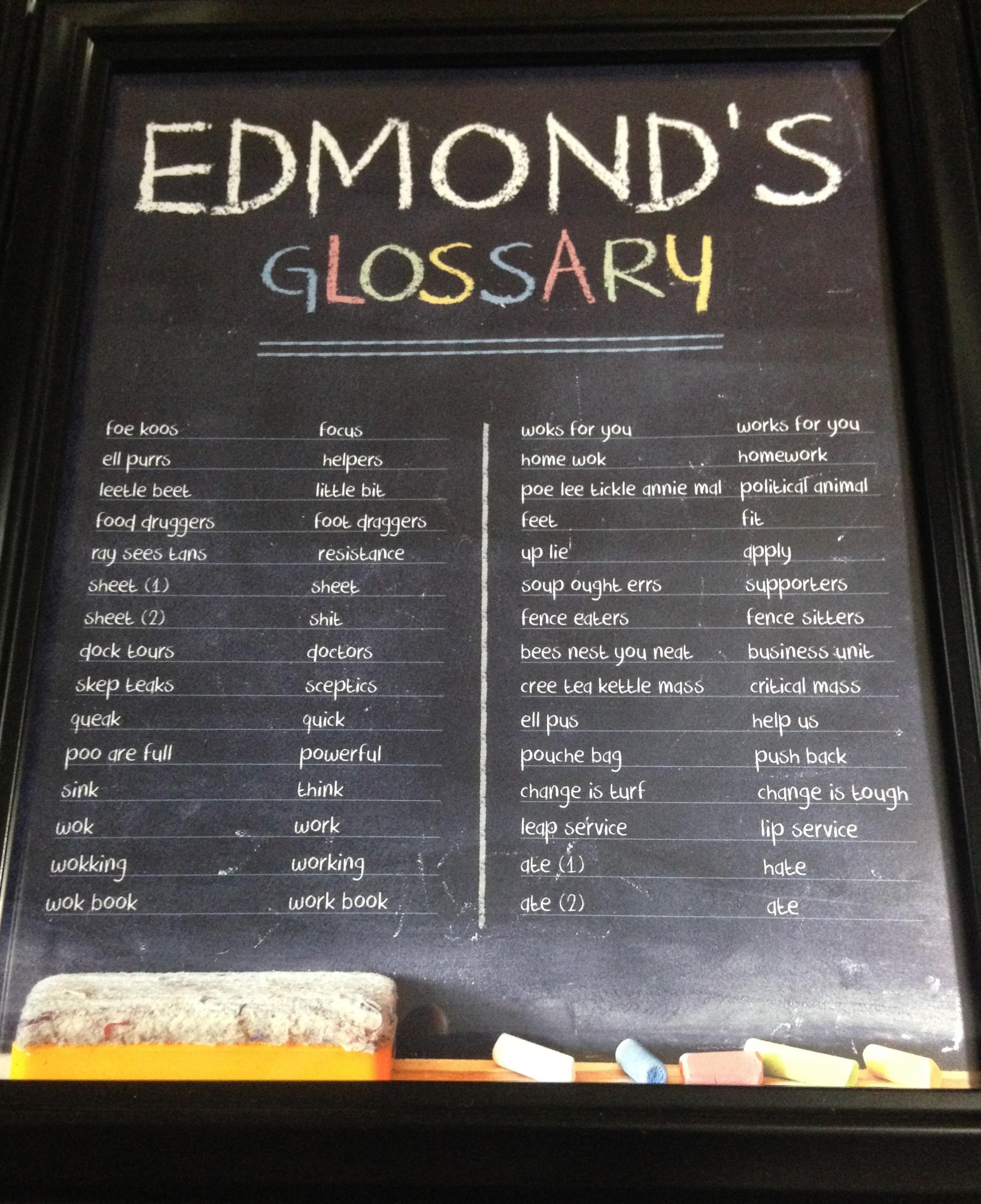 Edmond's Glossary ;-)