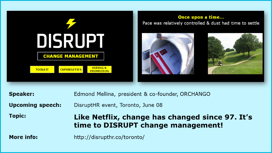 ORCHANGO Edmond Mellina To Speak At DisruptHR Toronto June 08 2017
