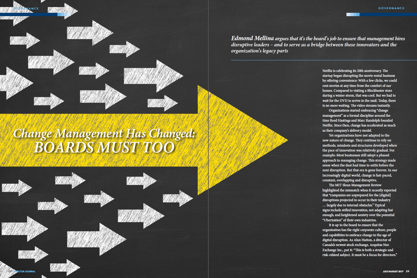 Change Management Has Changed, BOARDS MUST TOO